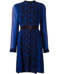 Proenza Schouler Belted Python Dress - Lyst