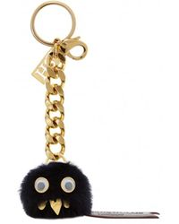 Sophie Hulme Harrold Monster Sheepskin Keyring - Lyst