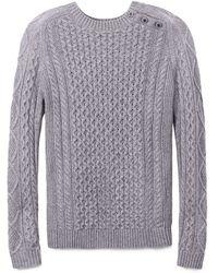 Tory Burch Gray Amirah Sweater - Lyst