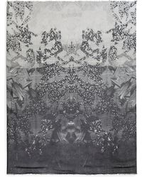 Yigal Azrouel Monochrome Graphicprint Modal Cashmere Scarf - Lyst