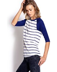 Forever 21 Striped Baseball Tee - Lyst