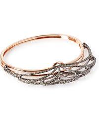 Bochic - Fan Diamond 18kt Rose Gold Bracelet - Lyst