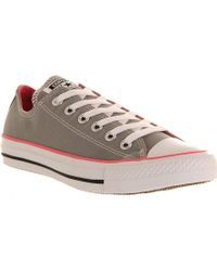 Converse All Star Lowtop Trainers Grey Pink - Lyst