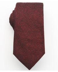 Armani Bordeaux Silk and Wool Tie - Lyst
