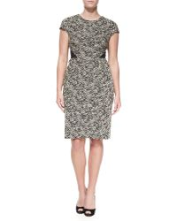 J. Mendel Capsleeve Tweed Dress - Lyst