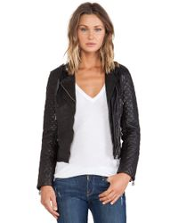 Doma Quilted Sleeve Moto - Lyst