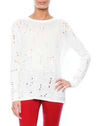 Iro Marvina Long Sleeve Destroyed T Shirt - Lyst