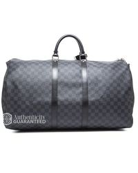 Louis Vuitton Preowned Damier Graphite Keepall Bandouliere 55 Bag - Lyst