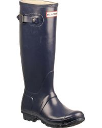 Hunter Original Wellington Rain Boot Navy - Lyst
