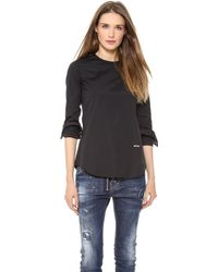DSquared2 Long Sleeve Blouse - Lyst