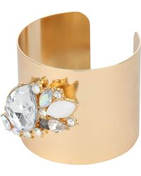 Jane Norman Teardrop Diamante Cuff Bracelet - Lyst