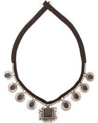 Saint Laurent Patti Medallion Collar - Lyst