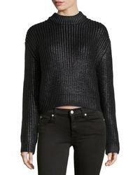 Michael Kors Ruberized Shaker-Knit Sweater - Lyst
