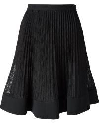 Philosophy di Alberta Ferretti Pleated Lace Skirt - Lyst