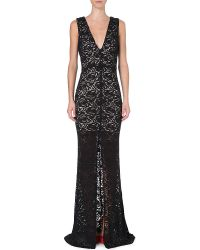 Alice + Olivia Long-length Lace Gown - Lyst