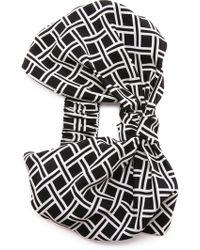 Eugenia Kim Natalia Turban Headband - Black/White black - Lyst