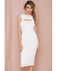 Nasty Gal Life Is A Highway Ribbed Cutout Dress - Lyst