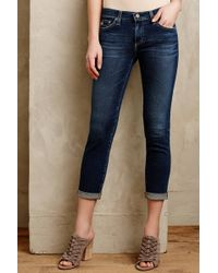 AG Adriano Goldschmied Stevie Roll-Up Jeans - Lyst