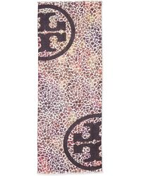 Tory Burch Watercolor Leopard-print Scarf - Lyst