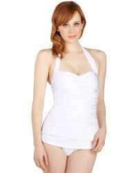 Esther Williams Swimwear Bathing Beauty Onepiece Swimsuit in White - Lyst