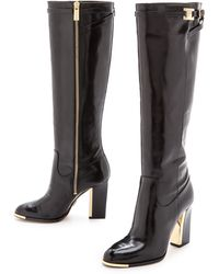 Michael Kors Collection Julie Tall Boots  Black - Lyst