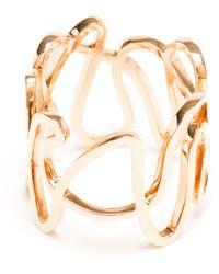 Repossi 18-karat Rose Gold White Noise Ring - Lyst