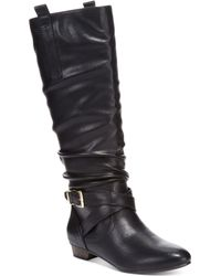 Material Girl Cooper Scrunched Tall Shaft Boots - Lyst