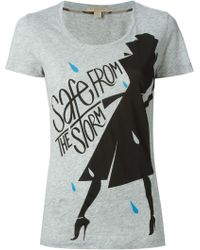 Burberry Brit Safe From The Storm Print T-shirt - Lyst