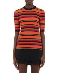 Givenchy Stripe Rib-Knit Top - Lyst