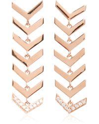 Karma El Khalil - Rose Gold And Diamond Snake Earrings - Lyst