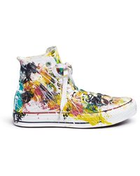 Rialto Jean Project | One Of A Kind Hand-painted Splash High Top Sneakers - Sz 36 | Lyst