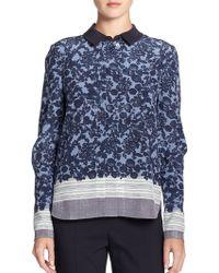 Tory Burch Silk Mimi Shirt - Lyst