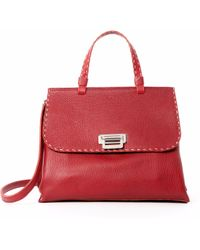 Lucque - Orlean Small Satchel Red - Lyst