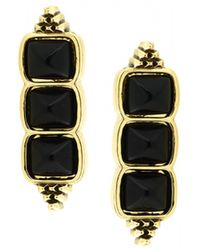 House Of Harlow Sugarloaf Bar Earrings Black - Lyst