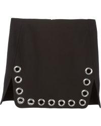 Paco Rabanne Large Eyelet Detail Skirt - Lyst