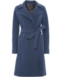 Max Mara Taglio Long Sleeved Belted Coat - Lyst