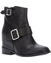 Jeffrey Campbell Buckled Ankle Boot - Lyst