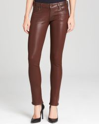 Citizens Of Humanity Jeans  Racer Low Rise Skinny in Bhutan Red Leatherette - Lyst
