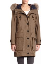 Burberry Brit Sebmoore Fur-trim Two-in-one Parka - Lyst