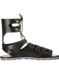 Vivienne Westwood Gladiator Sandal black - Lyst