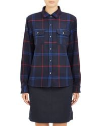 A.P.C. Plaid Flannel Shirt - Lyst