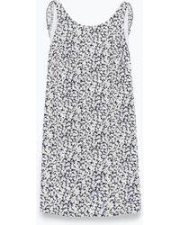 Zara Dress With Back Frill - Lyst