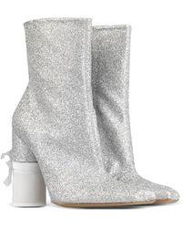 Maison Margiela Ankle Boots silver - Lyst