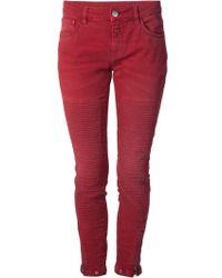 Closed Skinny Biker Style Jeans - Lyst