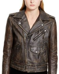 Polo Ralph Lauren Distressed Leather Jacket - Lyst