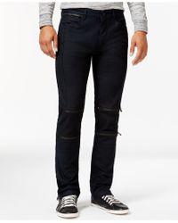 Calvin Klein | Coated Zip Detail Jeans | Lyst