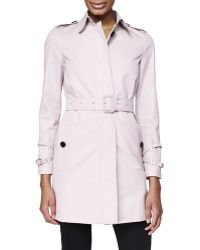 Burberry London Straight Hidden-Placket Trench Coat - Lyst