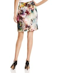 Karen Kane - Floral Print Pencil Skirt - Lyst
