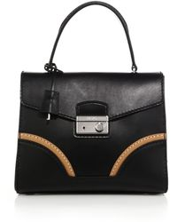 Prada Calf Leather Top-Handle Bag - Lyst