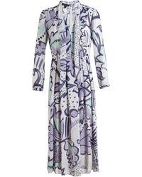 Burberry Prorsum Floral Print Layered Silk Dress - Lyst